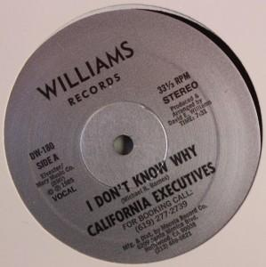 Single Cover California Executives - I Don't Know Why