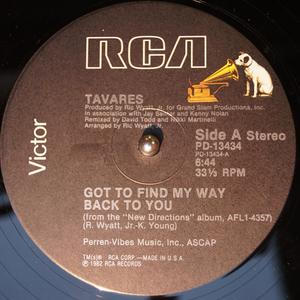 Single Cover Tavares - Got To Find My Way Back To You