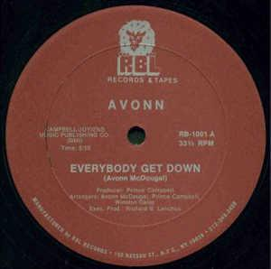 Single Cover Avonn - Everybody Get Down