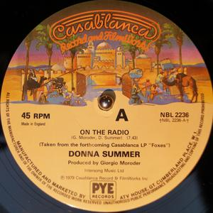 Single Cover Donna - On The Radio Summer
