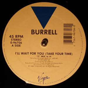 Single Cover Burrell - I'll Wait For You (take Your Time)