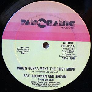 Single Cover Ray - Who's Gonna Make The First Move Goodman & Brown