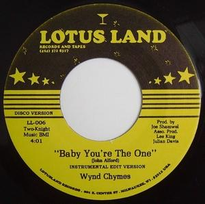 Single Cover Wynd Chymes - Baby You're The One