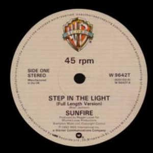 Single Cover Sunfire - Step In The Light