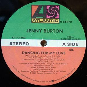 Single Cover Jenny - Dancing For My Love Burton