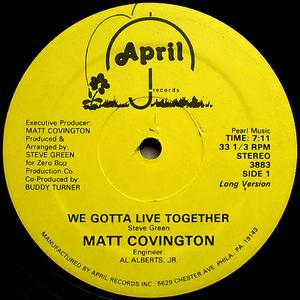 Single Cover Matt - We Gotta Live Together Covington