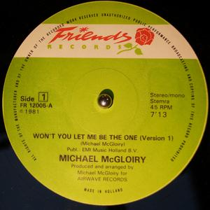 Single Cover Michael - Won't You Let Me Be The One Mcgloiry