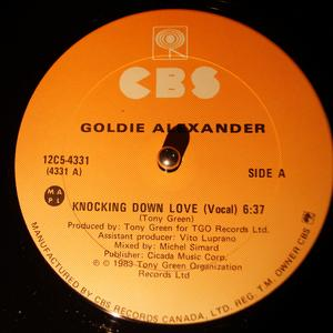Single Cover Goldie - Knocking Down Love Alexander