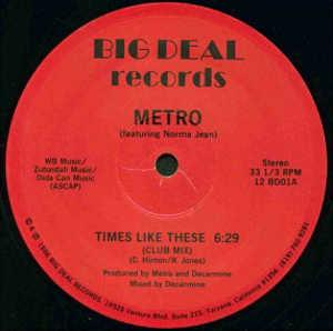 Single Cover Metro - Times Like These (feat. Norma Jean)
