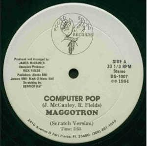 Single Cover Maggotron - Computer Pop