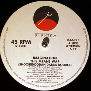 Single Cover Imagination - This Means War (shoobedoodah Dabba Doobee)