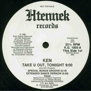 Single Cover Tonight Ken - Take U Out