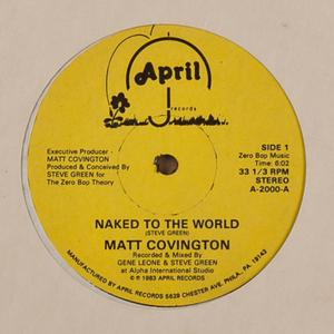 Single Cover Matt - Naked To The World Covington