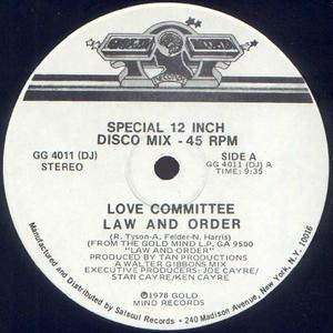 Single Cover Love Committee - Law And Order