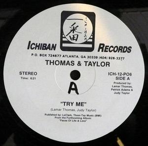 Single Cover Thomas And Taylor - Try Me