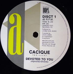 Single Cover Cacique - Devoted To You