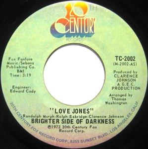 Single Cover Brighter Side Of Darkness - Love Jones