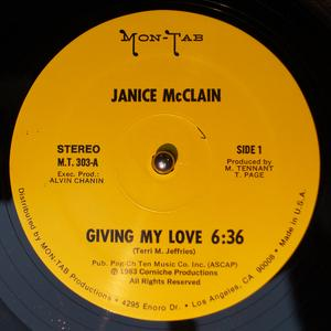 Single Cover Janice - Giving My Love Mcclain