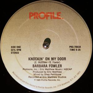 Single Cover Barbara - Knockin' On My Door Fowler