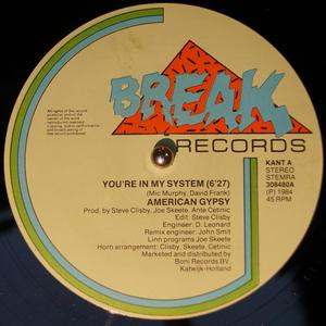 Single Cover American Gypsy - You Are In My System