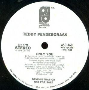 Single Cover Teddy - Only You Pendergrass
