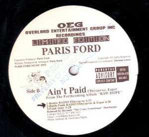 Single Cover Paris - Ain't Paid Ford
