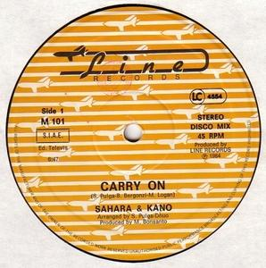 Single Cover Sahara - Carry On