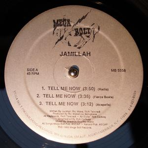 Single Cover Jamillah - Tell Me Now