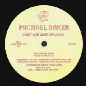 Single Cover Michael - Don't You Want My Lovin' Baker