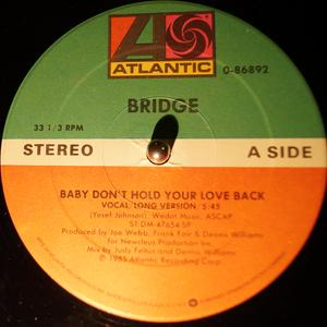 Single Cover Bridge - Baby Don't Hold Your Love Back