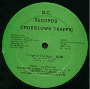Single Cover Crosstown Traffic - Tonight's The Night
