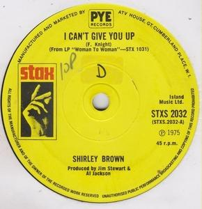 Single Cover Shirley - I Can't Give You Up Brown