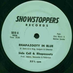 Single Cover Side Cell And Rhapazooty - Rhapazooty In Blue