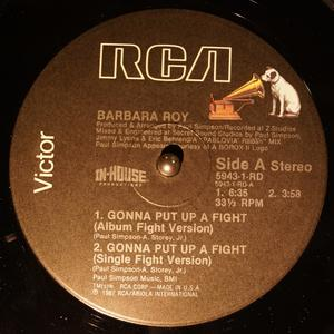 Single Cover Barbara - Gonna Put Up A Fight Roy