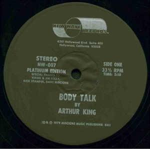 Single Cover Arthur - Body Talk King