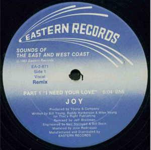 Single Cover Joy - I Need Your Love