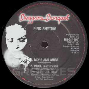 Single Cover Pink Rhythm - More And More