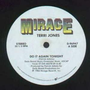 Single Cover Terri - Do It Again Tonight Jones