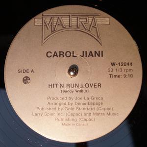 Single Cover Carol - Hit 'n Run Lover Jiani