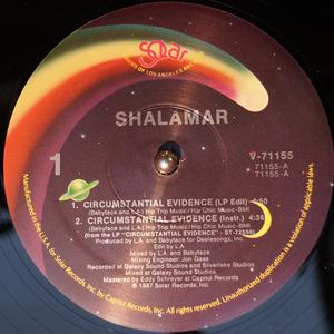 Single Cover Shalamar - Circumstantial Evidence