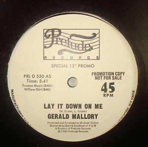 Single Cover Gerald - Lay It Down On Me Mallory