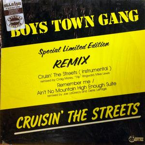 Single Cover Boys Town Gang - Cruisin' The Streets