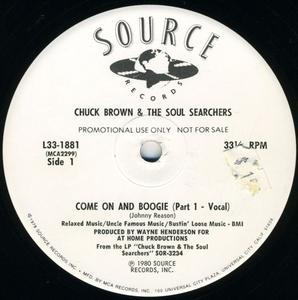 Single Cover Chuck Brown And The Soul Searchers - Come On And Boogie