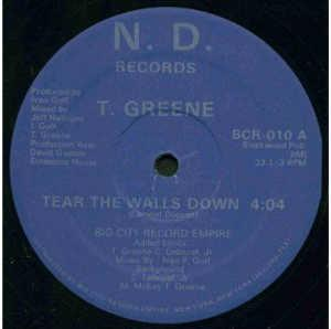 Single Cover T. - Tear The Walls Down Green