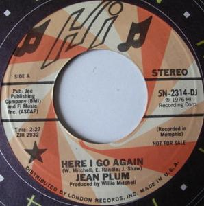 Single Cover Jean - Here I Go Again Plum