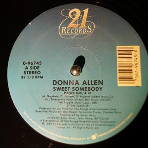 Single Cover Donna - Sweet Somebody Allen