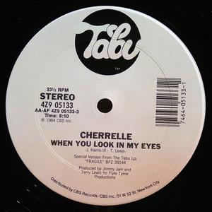 Single Cover Cherrelle - When You Look In My Eyes