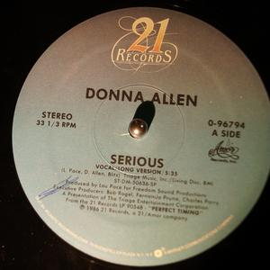 Single Cover Donna - Serious Allen