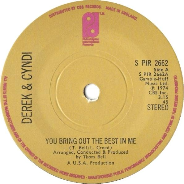 Single Cover Derek And Cyndi - You Bring Out The Best In Me