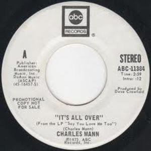 Single Cover Charles - It's All Over Mann